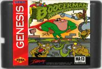 Boogerman A Pick And Flick Adventure Sega Genesis Game Video Cartridge 1994