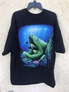 Vintage 1997 Amphibious Outfitters AO Big Pine Key Florida T Shirt Size XXL