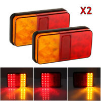 2X 12V CARAVAN TRUCK LORRY LED TRAILER REAR TAIL LIGHTS TURN SIGNAL INDICATOR