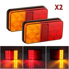 2x Caravan Truck Trailer LED Stop Rear Tail Reverse Light Indicator Lamp 12v Uk1