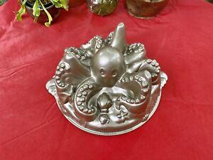 Nordic Ware Octopus Cake Pan Gold Bundt Pan