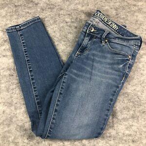 Bullhead Jeans Women 5 S Short Solana Extreme Skinny Low Rise Medium Blue Wash