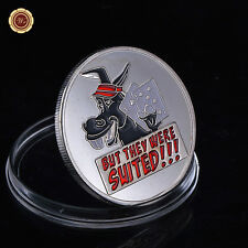 WR - But They Were Suited - Design Silver Poker Coin Card Guard Protector Cover