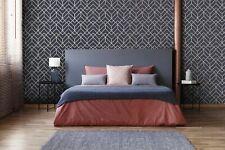 Superfresco Easy Navy Losanges Filaires Geometric Metallic Wallpaper
