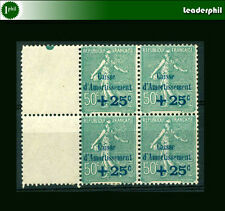 FRANCE Sc # B 25 Block of w/White Complement - MH and MNH