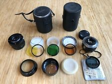 Lot Of Camera Accessories 3 Lenses 4 Filters 2 Cases Olympus Tiffen Russian