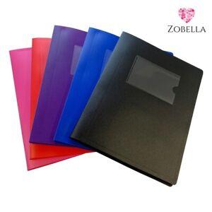 A5 Display Books, Presentation Folder File - Various Bright Colours