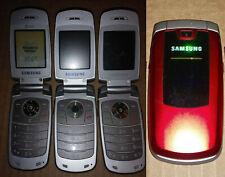 One unlocked Samsung SGH-A436 / SGH-A437 red AT&T Cellular flip Phone 2G