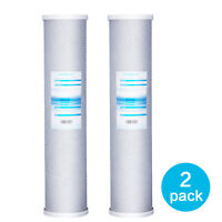 """2 Packs Big Blue Carbon Block Replacement Water Filter 4.5"""" x 20"""" Whole House"""