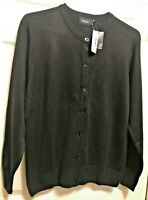 Woman's School Parker round neck button up black cardigan Sweater pick size NEW