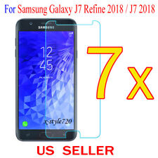 7x Clear Screen Protector Guard Film For Samsung Galaxy J7 Refine 2018 / J7 2018