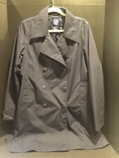 GAP Women's Navy Double Breasted Trench/Rain Coat 3/4 Length Size Large