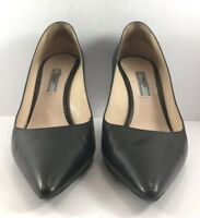 Prada Black Leather Pointy Toe Pumps  Womens Size EUR 38M