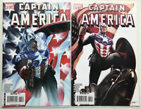 Captain America 34 Cover A&B, Marvel 2008, Ross Epting, Bucky Winter Soldier