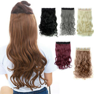 5 Clips Clip in Hair Extension Matte Long False Curly/ Wavy Synthetic Hairpieces