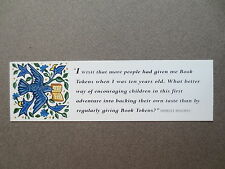 BOOKMARK Book Tokens 1932 - 1992 60 Years of Discovery Shirley Hughes Quote