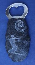 Hawaii Ancient Petroglyph Lava Rock Replica Bottle Opener with Surfer Design