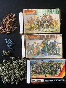 VINTAGE 1 72 MATCHBOX  LOT 3 BOITES WWII GERMAN NATO BRITISH PAS ATLANTIC AIRFIX
