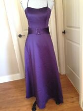 Alfred Angelo Solid Purple Evening Formal Shirt  Dress Polyester Size 12