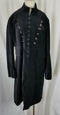 NEWPORT NEWS Velvet Military Equestrian Steampunk Gothic Long Coat Womens 18