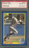 1990 Score #558 Sammy Sosa ROOKIE RC PSA 8 Graded Baseball Card MLB