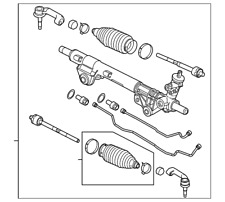 Genuine Ford Steering Gear CL3Z-3504-A