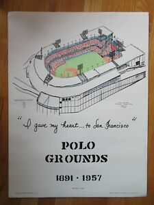National Pastime 1891-1957 POLO GROUNDS Home of NEW YORK GIANTS Poster