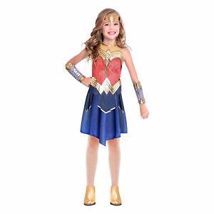 Childs Wonder Woman Fancy Dress Superhero Costume Princess Diana Girls Book Week