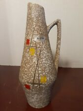 Vintage 1950's SCHEURICH KERAMIK VASE 271/22 Fat Lava Period West German Pottery
