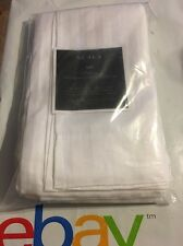 """Scala Hotel Collection 800 Thread Count 2 Pc White Stripe Pillow Cases Queen 22"""""""