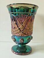 CARNIVAL GLAS XL Vase Pressglas Art Deco  Indiana Glas irisierend Höhe 17,5 cm