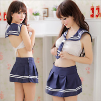 Japanese Womens Sexy School Girl Costume Outfit Cosplay Jap UK M
