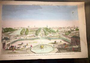 LONDRES. PARC St. JAMES et CANAL DE BUCKINGHAM  (VUE D'OPTIQUE FIN XVIIIéme).