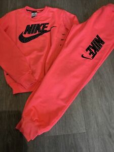 NIKE Girls Tracksuit, Size 164, Age 11 Approx, Worn Condition