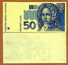 Croatia, 50 Kuna, 1993, UNC - First Issue - Printing Proof