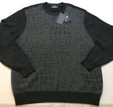 NWT $295 Men's HART SCHAFFNER MARX Gray 100% CASHMERE Sweater XL