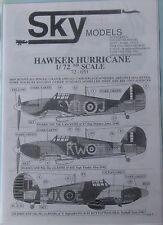 Skymodels 1/72 72053  Hawker Hurricane decal set