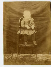 Vintage Cabinet Card Unknown Baby in a High Chair