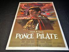 PONCE PILATE jean marais  affiche cinema  peplum mascii 1961