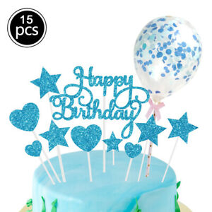 15PC Cake Strip Toppers Baking Accessorie Star Love Shape Birthday Party Decor H