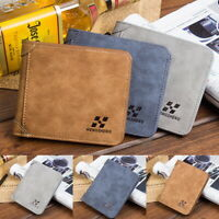 MENS Fashion Faux LEATHER ULTRA SLIM CREDIT CARD HOLDER NOTE CASE WALLET BROWN