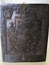 Thangka Lebensrad Thanka vintage tibetan copper repousse wheel of life buddha