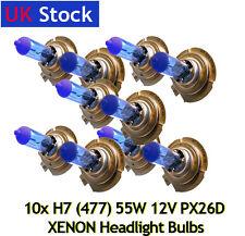 10x XENON 55W SUPER WHITE H7 PX26d 477/499 Headlight Bulbs 12V