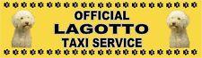 LAGOTTO OFFICIAL TAXI SERVICE  Dog Car Sticker  By Starprint
