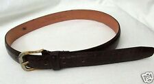 Paul Lawerence Belt Genuine Split Leather Brown Thin XS