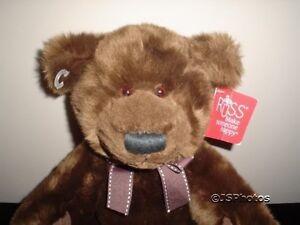 Russ Berrie Larz Bear 23136 Soft Brown Plush 12 inch