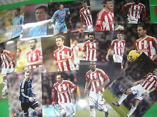 Stoke City FC 16 x Different Signed 2011/12 12x8 Player Photographs