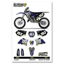 2006-2014 YAMAHA YZ 125-250 Cantrell Motocross Dirt Bike Graphics kit Decal