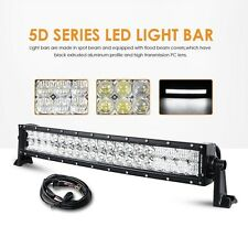 LED Light Bar 22 inch 120W Auxbeam Curved Cree SPOT FLOOD Off Road 5D Lens