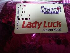 Lady Luck Casino Hotel card Mad Money Slot Club punched